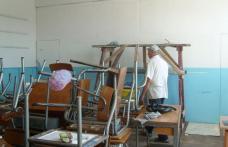 """Şcoala nr. 4 Dorohoi: """"Ne străduim să finalizăm curăţenia cât de repede putem"""""""