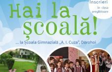 """Hai la școală! – Înscrieri în clasa pregătitoare la Școala Gimnazială """"Alexandru Ioan Cuza"""" Dorohoi"""