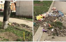 """Primim la redacție – """"Mulțumim administrației locale pentru gunoiul depozitat zi de zi la colțul blocului"""" - FOTO"""