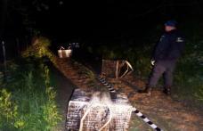 Focuri de armă si 18.000 de pachete cu ţigări de contrabandă confiscate de poliţiştii de frontieră - FOTO