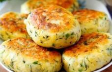 Pârjoale de cartofi cu verdeață