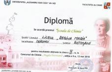 """Liceul """"Regina Maria"""", Dorohoi - Excelență în chimie"""