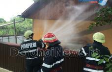 Incendiu izbucnit în curtea unei gospodării din Pădureni. Pompierii dorohoieni au prevenit extinderea acestuia - FOTO