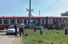Accident feroviar în județul Botoșani. Un tren de călători a lovit o maşină