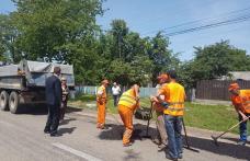 Lucrările pregătitoare pentru turnarea covoarelor asfaltice pe drumurile naționale, inspectate de prefect - FOTO