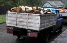 Material lemnos fără acte legale, confiscat de polițiști