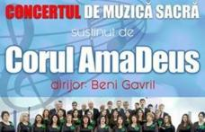 Concert de muzică sacră susținut de Corul AmaDeus la Dorohoi