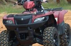 Dosar penal pentru un tânăr prins pe un ATV neînmatriculat