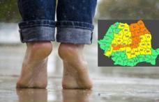 Potopul nu se opreşte! COD PORTOCALIU şi COD GALBEN de ploi în aproape toată ţara