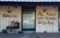 Simboluri și amenințări naziste la adresa românilor într-un oraș din Italia