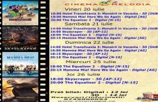 """Vezi ce filme vor rula la Cinema """"MELODIA"""" Dorohoi, în săptămâna 20 – 26 iulie – FOTO"""