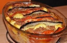 Sufleu de vinete cu carne tocată