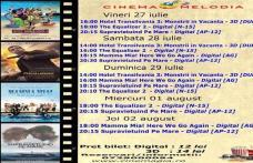 """Vezi ce filme vor rula la Cinema """"MELODIA"""" Dorohoi, în săptămâna 27 iulie – 2 august – FOTO"""