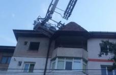 Intervenție de urgență a pompierilor la un bloc din Botoșani - FOTO