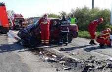 ACCIDENT GRAV! Un șofer de 19 de ani din Dorohoi, a intrat pe contrasens și a lovit în plin o maşină care circula regulamentar
