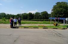 Sens giratoriu la intersecția drumurilor naționale din comuna Vârfu Câmpului