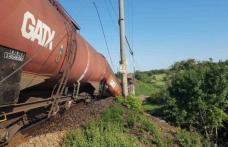 Caz incredibil! Tren cu carburant deraiat după ce un pod s-a rupt. Mecanicul era în stare de ebrietate