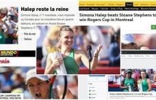"""Simona Halep a câștigat eroic încă un trofeu! Presa străină, la picioarele """"reginei"""""""