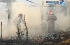Furaje distruse de incendiu la Cobâla! Pompierii dorohoieni intervenit pentru stingere - FOTO