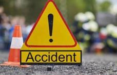 Accident produs de un puștan beat. Patru mașini lovite dintr-un foc