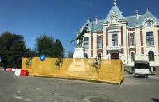 """Monumentul """"Ostașul român în atac"""" din fața Primăriei Dorohoi va fi reabilitat – FOTO"""