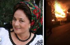 Incendiu violent la casa cântăreței Laura Lavric - VIDEO