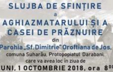 INVITAȚIE la sfințire Aghiazmatar și Casa de prăznuire la Oroftiana de Jos, Protopopiatul Darabani