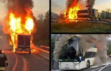 Un autocar românesc a explodat pe o autostradă din Austria