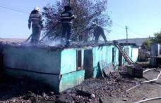 Incendiu izbucnit la o casă din Dimăcheni! Pompierii dorohoieni au intervenit pentru stingere