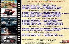 """Vezi ce filme vor rula la Cinema """"MELODIA"""" Dorohoi, în săptămâna 12 - 18 octombrie – FOTO"""