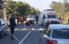 Accident pe drumul Botoșani-Săveni! Biciclist rănit grav după ce a intrat direct în fața unui autoturism - FOTO