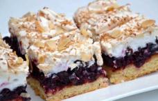 Prăjitură cu marmeladă și bezea