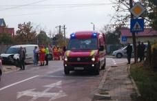 Accident! Tânăr ajuns la spital în urma unui impact violent dintre două autoturisme