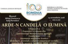 Arde-n candelă o lumină – Expoziție la Memorialul Ipoteşti