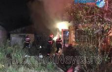 Incendiu izbucnit la o casă din Dorohoi! Bărbat cu arsuri preluat de ambulanță - FOTO