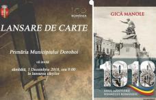 Lansare de carte la Primăria municipiului Dorohoi
