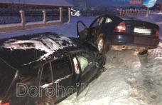 Accident! Doi bărbați răniți după impactul dintre două autoturisme pe drumul Dorohoi - Botoșani – FOTO
