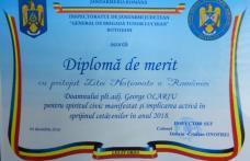 Jandarm din Botoșani recompensat cu ocazia Zilei Naţionale a României - FOTO