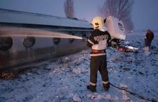 Accident! O cisternă a unei firme din Dorohoi încărcată cu benzină și motorină s-a răsturnat în județul Bacău - FOTO