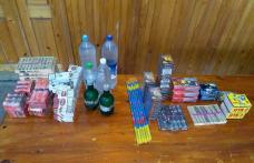 Petarde, pocnitori, țigări și brazi confiscați de jandarmi înainte de Crăciun - FOTO