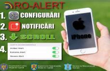Posesorii de iPhone vor putea în curând primi şi ei mesajele de avertizare RO-ALERT