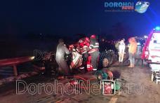 Accident teribil la intrarea în Dorohoi! Tânăr rănit grav după ce un Audi a zburat zeci de metri - VIDEO / FOTO
