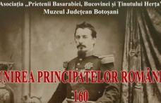 """""""160 de ani de la Unirea Principatelor Române"""" manifestare desfășurată la Muzeul de Științele Naturii Dorohoi"""