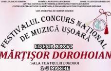 """Festivalul """"Mărțișor Dorohoian"""" 2019. Vezi cine cântă în recital!"""