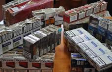 Ţigări de contrabandă, la vânzare într-un magazin din judeţ