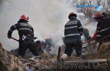 Incendiu la Dumeni! Pompierii dorohoieni au intervenit pentru stingere - FOTO