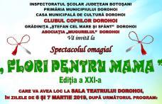 """Clubul Copiilor Dorohoi: Concert omagial """"Flori pentru mama"""", ediția a XXI-a. Vezi programul!"""