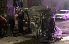 Cascadorie în toiul nopții la Dorohoi! Un tânăr de 21 de ani a rupt un stâlp, scuarul și mai mulți copăcei de pe bulevardul Victoriei