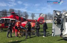 Bărbat din Dorohoi transportat de urgență cu elicopterul SMURD la Iași - FOTO