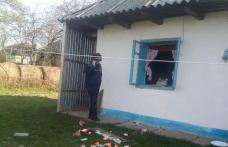 Explozie într-o casă din comuna Mileanca. O bătrână a fost transportată la spital cu arsuri - FOTO